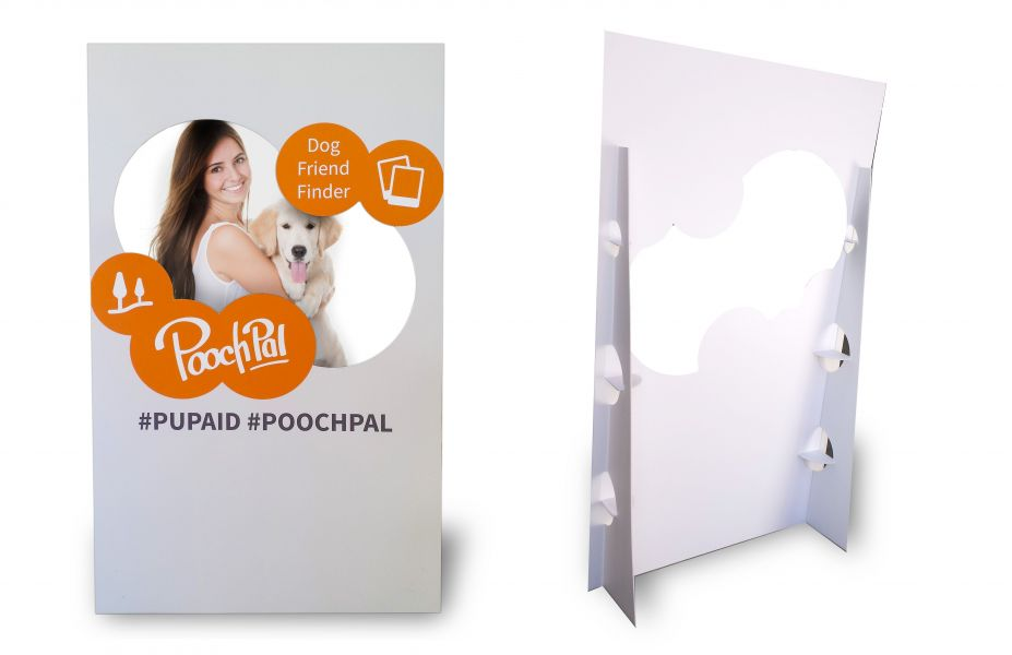 Cut out hole photo board stand for pets, dog, cats