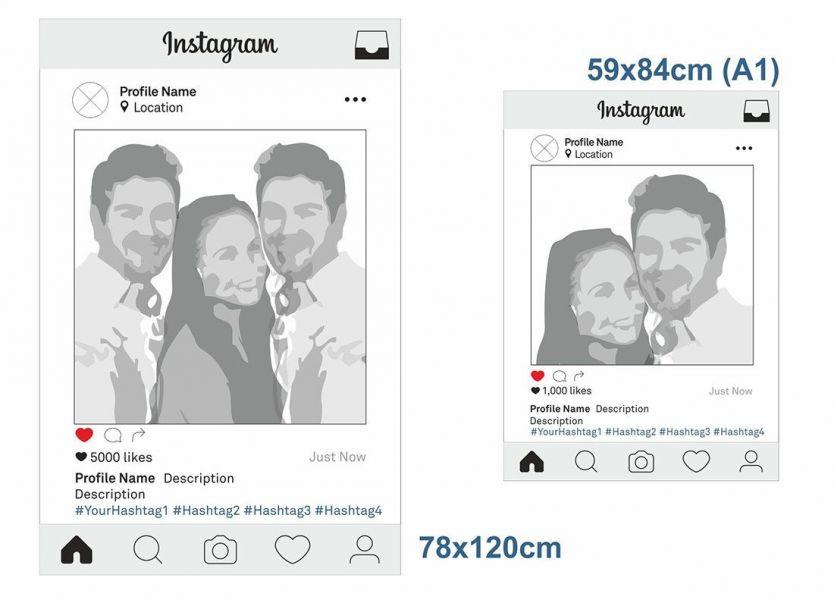 Instagram Photo Frame, Selfie Frame Printing, Photo Props, Printed ...