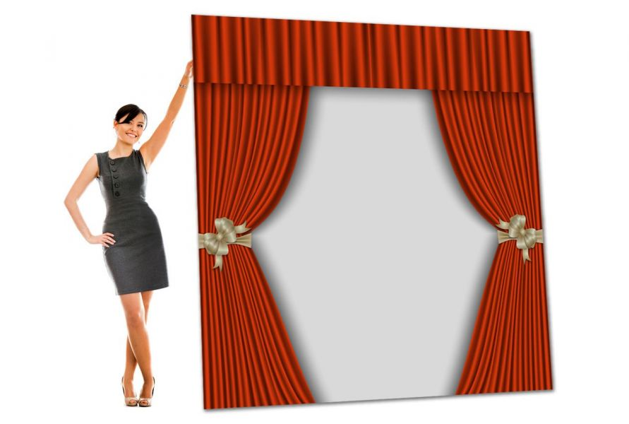 foamex photo backdrop theatre curtain board